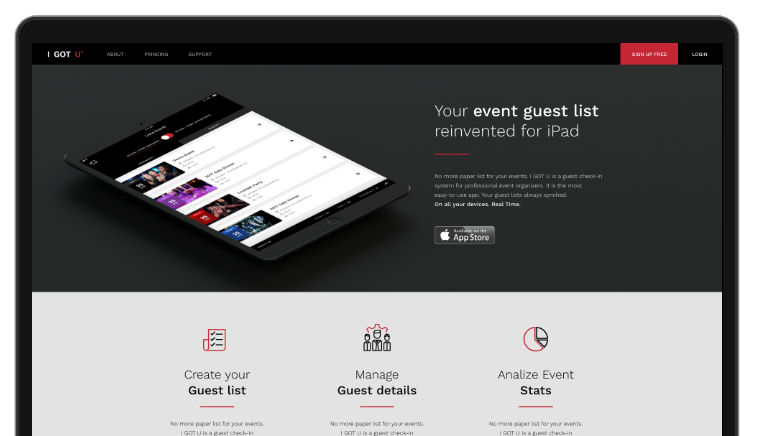 i got u your event guest list reinvented for ipad
